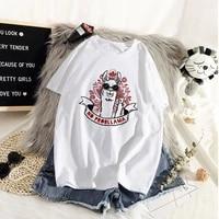 graphic tees tops funny hand painted alpaca tshirts women funny t shirt o neck t shirt vintage ullzang mujer_t shirt