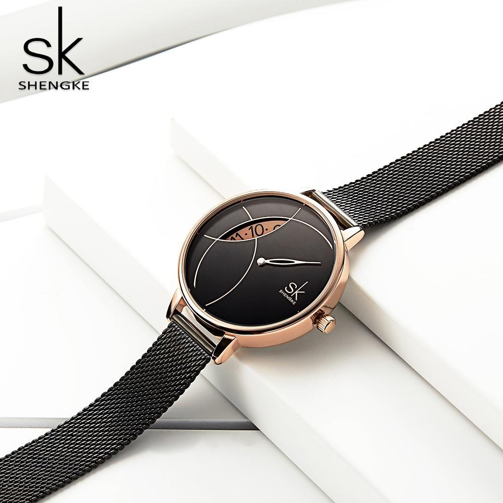 Women Unique Design Watches Simple Women's Decorative Watch Metal Wristwatch Quartz Gold Sliver Fashion Watch Montre Femme enlarge