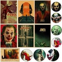 Affiche de Film Joaquin Phoenix Joker   Vintage, affiche de Film Art de bande dessinée, décoration murale, photos de la maison, affiches de Film ennemi BatmanS, 2019 DC