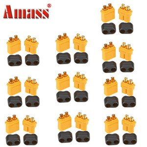 10Pairs 20PCS Amass XT60+ Plug Connector With Sheath Housing Plugs For RC Helicopter Quadcopter FPV Racing Drone Lipo Battery