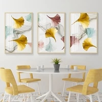 modern gold pink leaves wall art nordic canvas paintings gallery posters and prints pictures for living room interior home decor