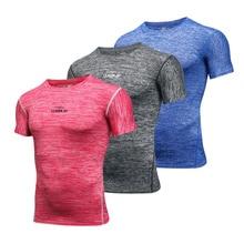 Hommes Gym Compression T-Shirts survêtement Fitness course Sport hauts sec Fit manches courtes Train T-Shirts hommes Rashgard Sportswear