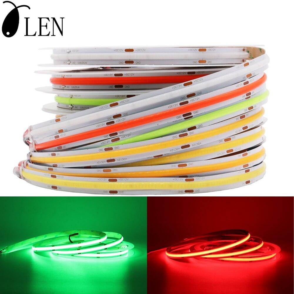DC12/24V COB LED Strip Light 8/10mm High Density Flex LED Lamp Light Dimmable Linear Ribbon Red Green Blue 3000K 4000K 6000K