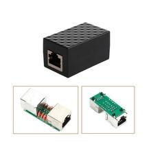 EPULA RJ45 LAN Adapter Ethernet Network Protect Device Arrester Surge Protector