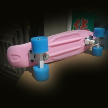 "22 Skateboard Penny Board Mini Cruiser Board 22"" Retro Skate Board Complete with Led Light up Wheels"