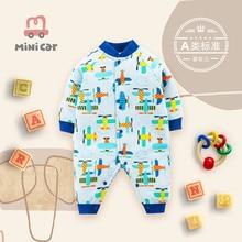 Newborn baby's one-piece suit, hip-hop dress, female baby's autumn and winter cotton jacket, warm an