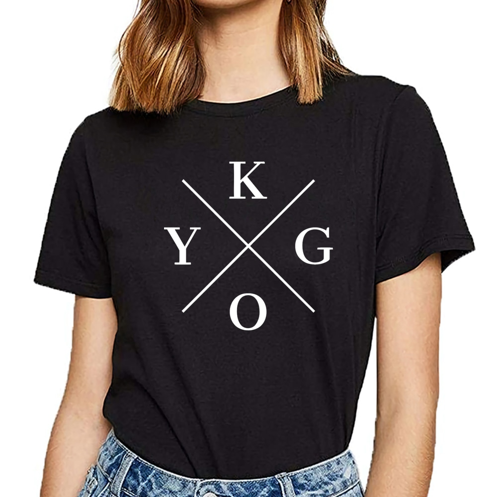 Tops camiseta mujer kygo Hip Hop Vintage personalizada camiseta femenina