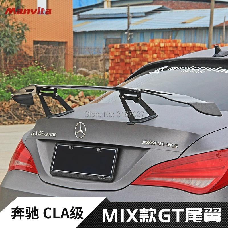 Para mercedes-benz CLA W117 cl180 CLA200 CLA250 CLA260 alerón de techo trasero de fibra de carbono