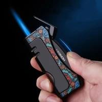 honest windproof torch lighter turbo jet outdoor butane cigar lighter spray gun metal visible gas window lighter gadgets men