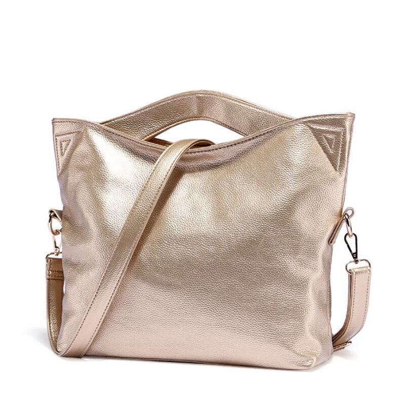 bolsa feminina Big Shoulder bags for women 2020 New Fashion Gold color Crossbody handbag Women Soft Leather Bag PU Messenger Bag
