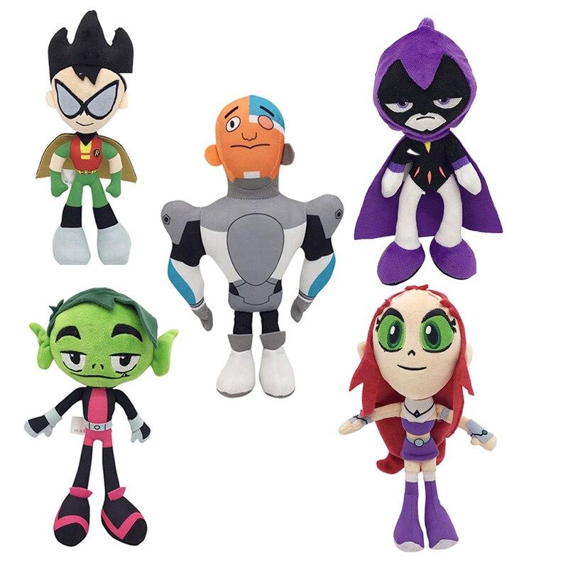 25cm Teen Titans ir juguetes de peluche Anime Titan adolescentes vengadores Raven púrpura juguetes de peluche de felpa muñeca de peluche suave muñecas para niños cumpleaños regalo