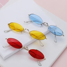 Fashion Vintage Shades Sun Glasses Elegant okulary Retro Small Oval Sunglasses for Men Women Eyeglas