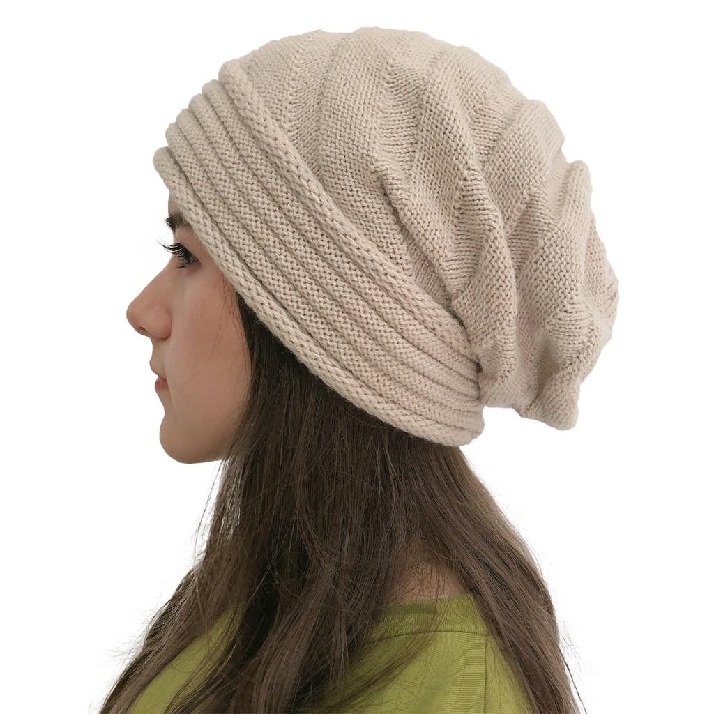 Otoño mujer turbante divertido sombrero de invierno sombreros para mujer gorro de invierno moda sólido tejido al aire libre gorros para hombres 2019