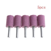 5pcs od20 6mm shank cylinder abrasive stone points mounted grinding stone burr for rotary tools
