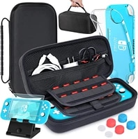 heystop compatible with nintendo switch lite carrying storage bag mini switch lite cover case tempered glass screen protector