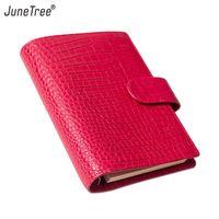 Junetree personal A6 Rings Planner 23mm Rings Binder Agenda Floppy Version Croc Grain Organizer Diary Journal Notepad Sketchbook