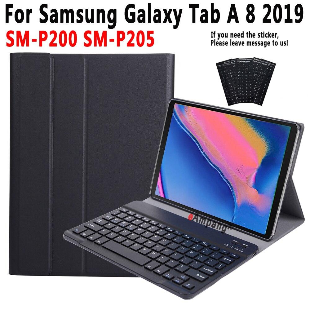 Caso de Teclado Para Samsung Galaxy Tab UM 8 Plus 2019 SM-P200 SM-P205 P200 P205 Case para Samsung Tab UM 8 2019 Tampa do teclado + Caneta