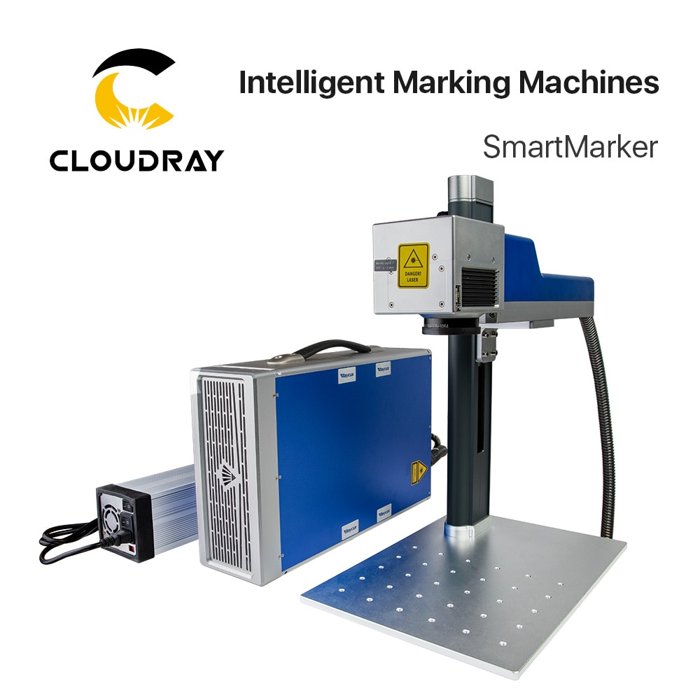 Marqueur Intelligent de Machine de marquage de Laser de Fiber de Cloudray 20-30W pour marquer lacier inoxydable en métal