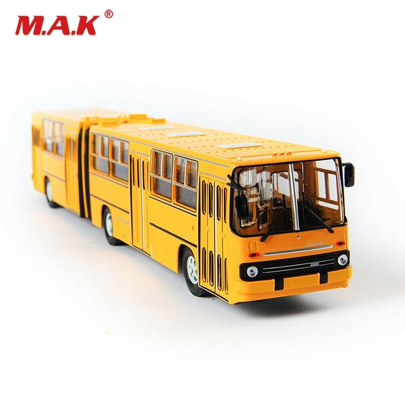 Juguetes de 38cm para niños IKarus-280 modelo de autobús 1/43 Aleación de fundición soviética Rusia de dos pisos autobús amarillo juguetes para niños