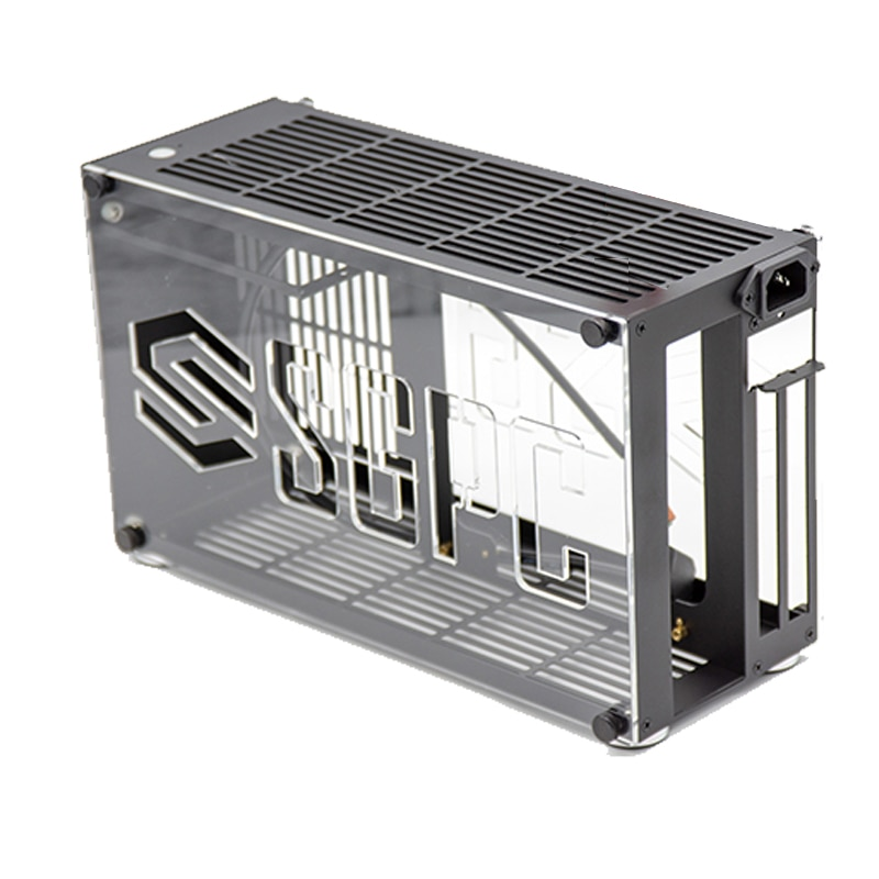 K55 جميع الألومنيوم A4 هيكل كمبيوتر مكتبي صغير يدعم i7 11700 RTX3080 SFX PSU HTPC Mini Itx PC