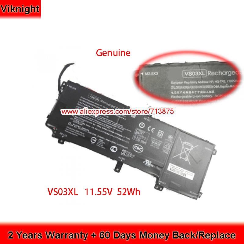 Genuine 11.55V 52Wh TPN-I125 VS03XL Bateria para Hp Envy Série 15 15-AS002NS 15-AS000NF HSTNN-UB6Y 849047-541 849313-850