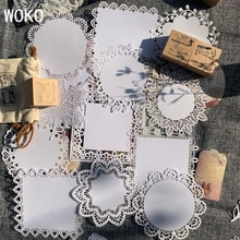 WOKO rétro Alice fond matériel papier Vintage creux dentelle papier étiquette autocollant bricolage Scrapbooking projets journal Album Escolar