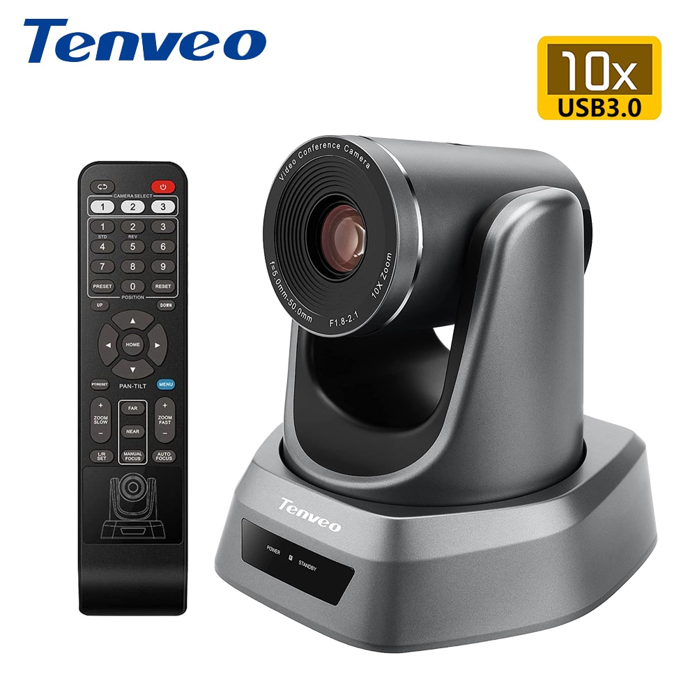Tenveo NV400 4K تتبع تلقائي كاميرا غرفة الاجتماعات الفيديو 10x زووم بصري USB3.0 الإخراج لعقد مؤتمرات الفيديو على الانترنت الاجتماعات