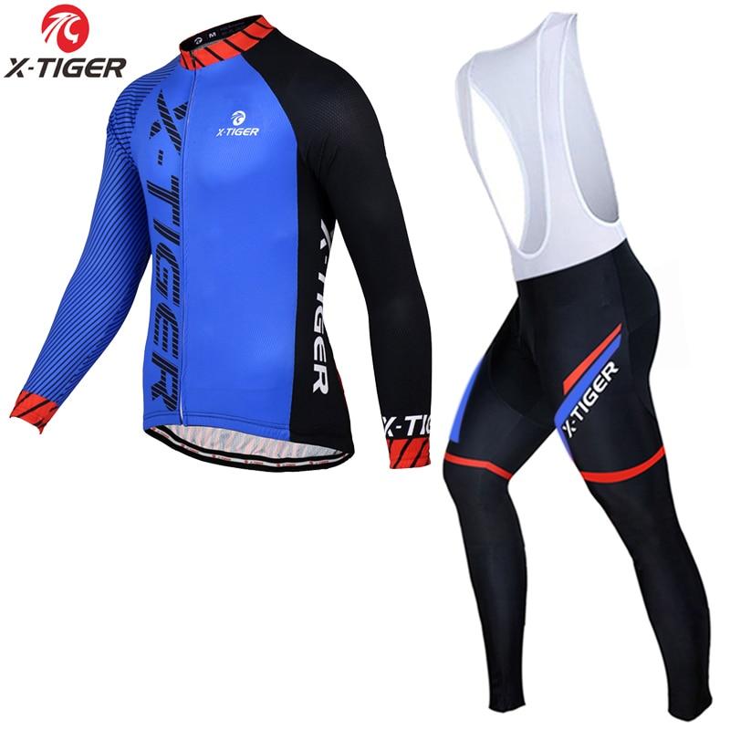 X-TIGER Pro-Conjunto de camisetas de manga larga, para Ciclismo de montaña o de verano, para hombre