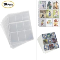 30pc Waterproof Wallets Album Pages Collection 270 Pockets Trading Gaming Card Sleeves Storage 2 7x3 6inches  c