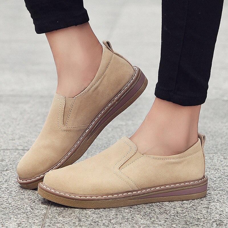 Женская обувь, женская повседневная обувь на плоской подошве, женская повседневная обувь, женская кожаная обувь для осени