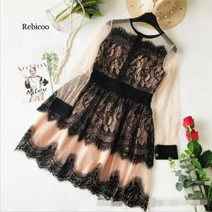 Women's Dresses Spring Summer Fashion Dress Black Lace Short Mini Party Birthday Girl Clothes Celebrity Sexy Female