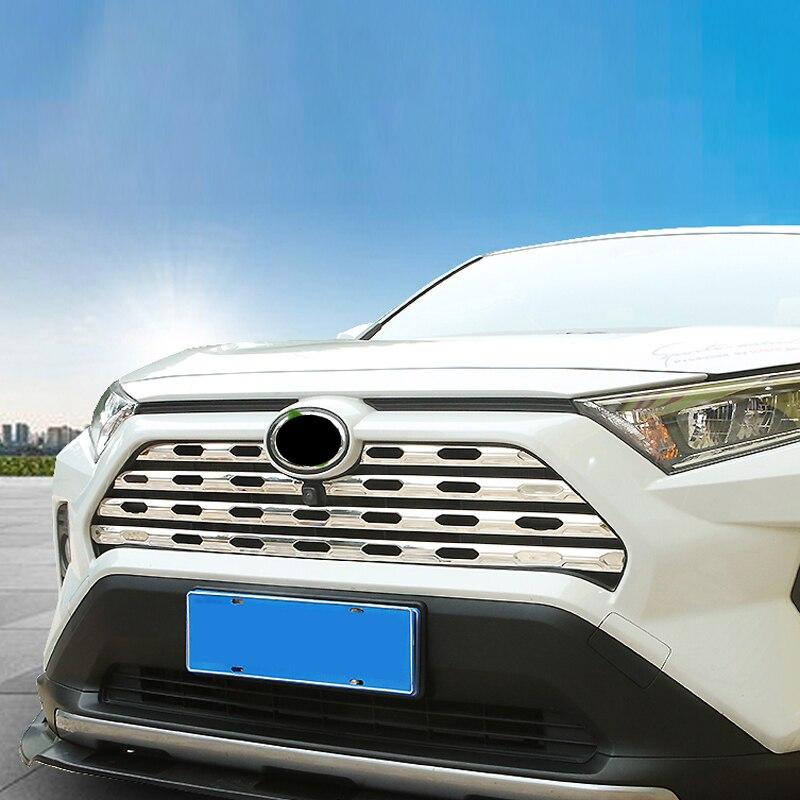 Para Toyota RAV4 XA50 2018-2020 Protector de rejilla central inoxidable Protector de tapicería decorativa accesorios de estilo de coche