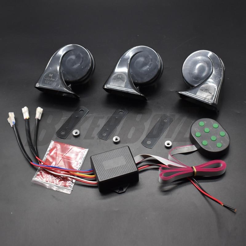 12v 135db chifre de ar alarme automóvel caracol chifre automóvel geral 510hz duplo tom caracol automóvel sinal sonoro eletrônico ala