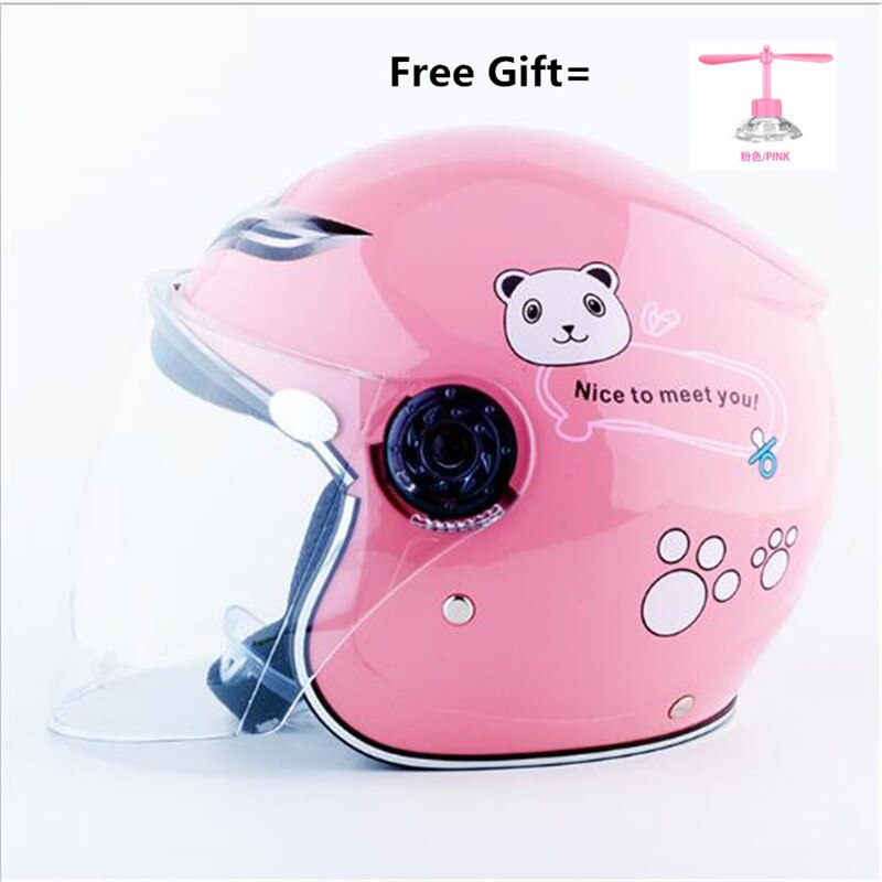 Motorcycle Helmets Electric Bicycle Helmet Open Face Dual Lens Visors Children Kids Summer Scooter Motorbike Bike riding Helmet enlarge