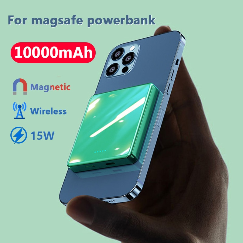 10000mAh Magnetic Wireless powerbank 15W Fast charger For magsafe mini Power Bank For iphone12 xiaomi Magnet External battery