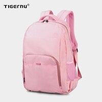 Tigernu Fashion Women Mini Bags College Backpacks Girl School Backpack Bag For Teenagers 14.1inch Pink/Blue Mochila Feminina Bag
