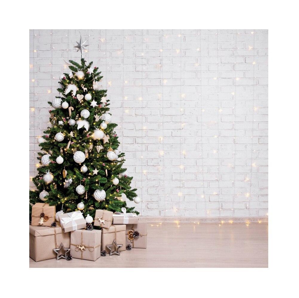 Natal pano de fundo branco tijolo parede luz do bebê retrato vinil fotografia backdrops fundo fotográfico para estúdio foto