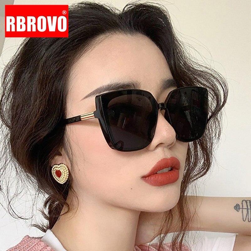 RBROVO Cateye, дизайнерские женские солнцезащитные очки, 2019, высокое качество, Ретро стиль, солнцезащитные очки для женщин, квадратные очки для женщин/мужчин, роскошные Oculos De Sol
