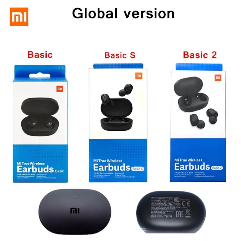 Original Xiaomi Redmi AirDots Global Version Mi True Wireless Earbuds Basic TWS Earphone Game Mode 5.0 Bluetooth Automatic Link