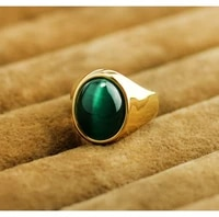 custom lettering opal ring vintage mens imitation gold lucky european and american gem ring hand jewelry mens gift free shippi