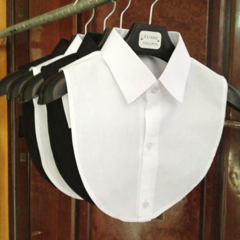 Фото - Женская Съемная блузка со съемным лацканом, кружевная рубашка с оборками, блузка с ложным воротником, съемная блузка накладные, наполовину, ... тенсельная блузка со стиркой