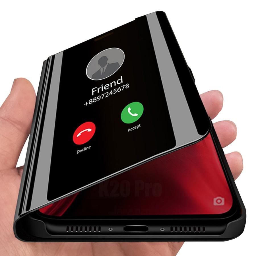 Funda de lujo para teléfono Smart Mirror de negocios para Samsung Galaxy A20 A30 A40 A50 A60 A70 360 protección completa con tapa y soporte
