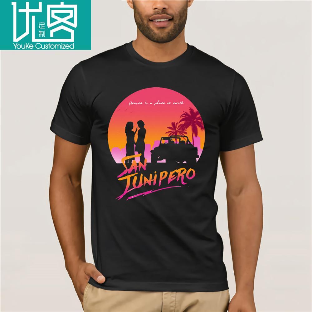 San junipero céu é um lugar na terra t camisas feminismo preto espelho casual manga curta verão topos