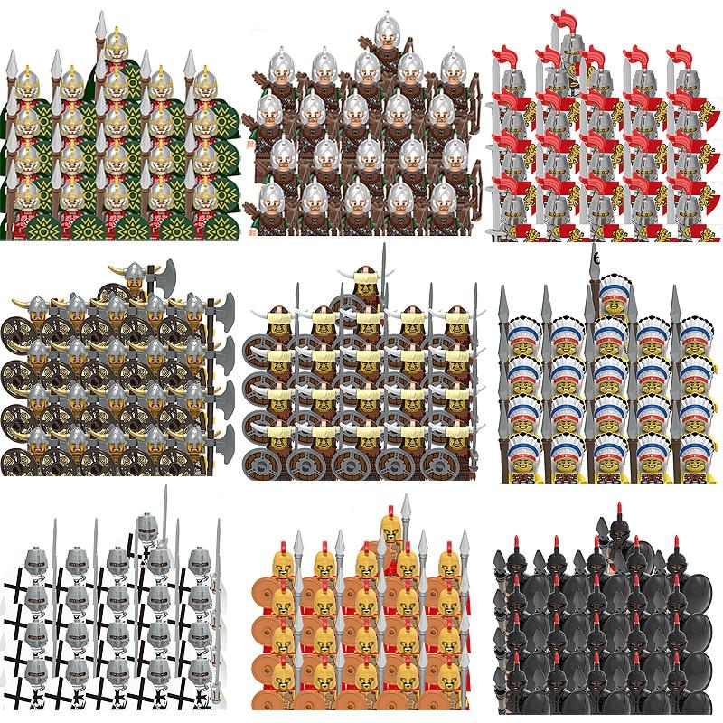 شخصيات عسكرية في القرون الوسطى أسلحة رومانية لبنات البناء مجموعات الفارس أجزاء الرب المحارب السيف اكسسوارات متوافق مع مجموعات اللعب