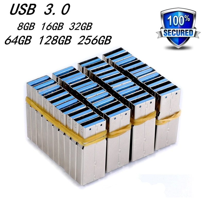 Wholesale 3.0 50pcs Usb Flash Drive Chips Pendrive 32GB 64GB 128GB Pen Drive Flash Memory Card 8G 16GB 256GB Flash Drive Cle Usb
