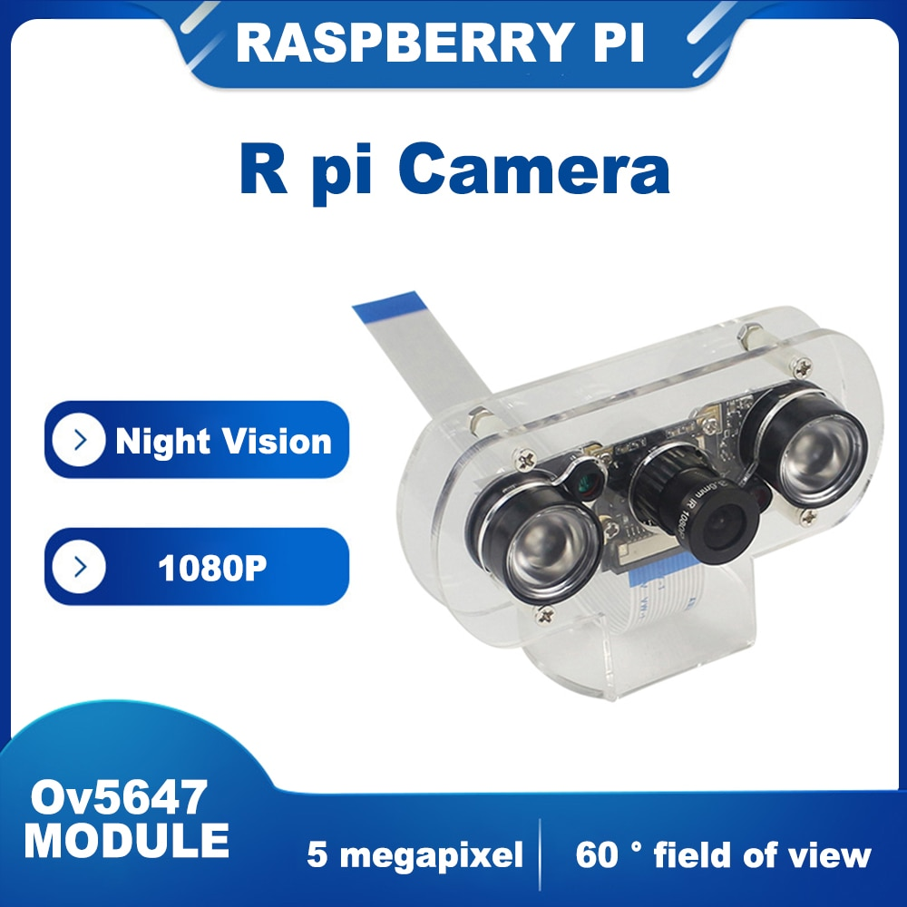 ITINIT R25 Raspberry Pi 4 Camera Module Night Vision Camera with 3.6mm Adjustable Focal Length 2pcs IR Sensor LED Light 1080P enlarge