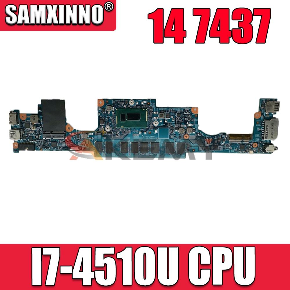 شحن مجاني لأجهزة الكمبيوتر المحمول انسبايرون 14 7437 اللوحة CN-0NT27R 0NT27R NT27R 12310-1 مع SR1EB I7-4510U وحدة المعالجة المركزية 100% تعمل بشكل جيد