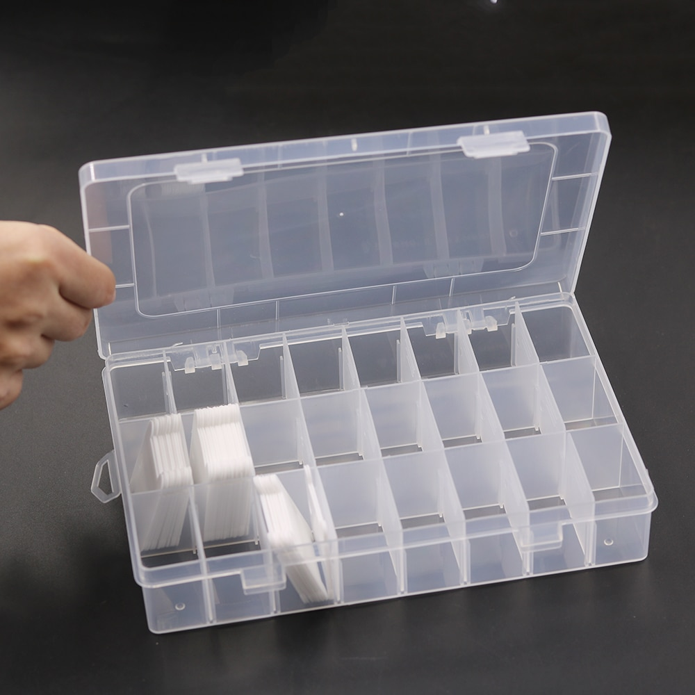 24 רשתות שקוף פלסטיק רקמת חוט תיבת אחסון חוט רובינס חפצים ארגונית DIY צלב סטיץ תפירת כלים