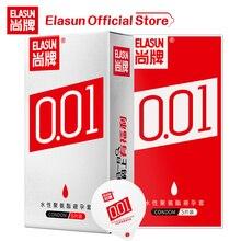 Elasun 0.01mm Invisible Ultra mince lubrifié préservatif produit sexuel polyuréthane Non-latex grande taille 55mm préservatifs pour hommes offre spéciale
