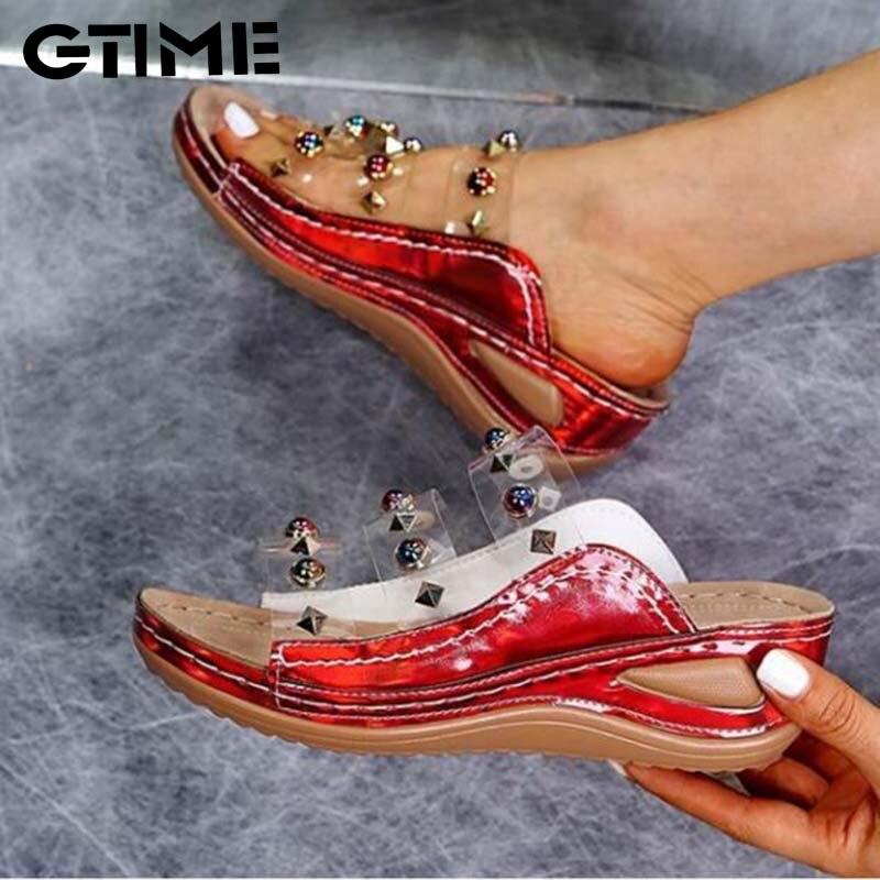 Женские прозрачные сандалии, летняя пляжная обувь, шлепанцы с открытым носком, Повседневная пляжная обувь, богемные сандалии на плоской под...